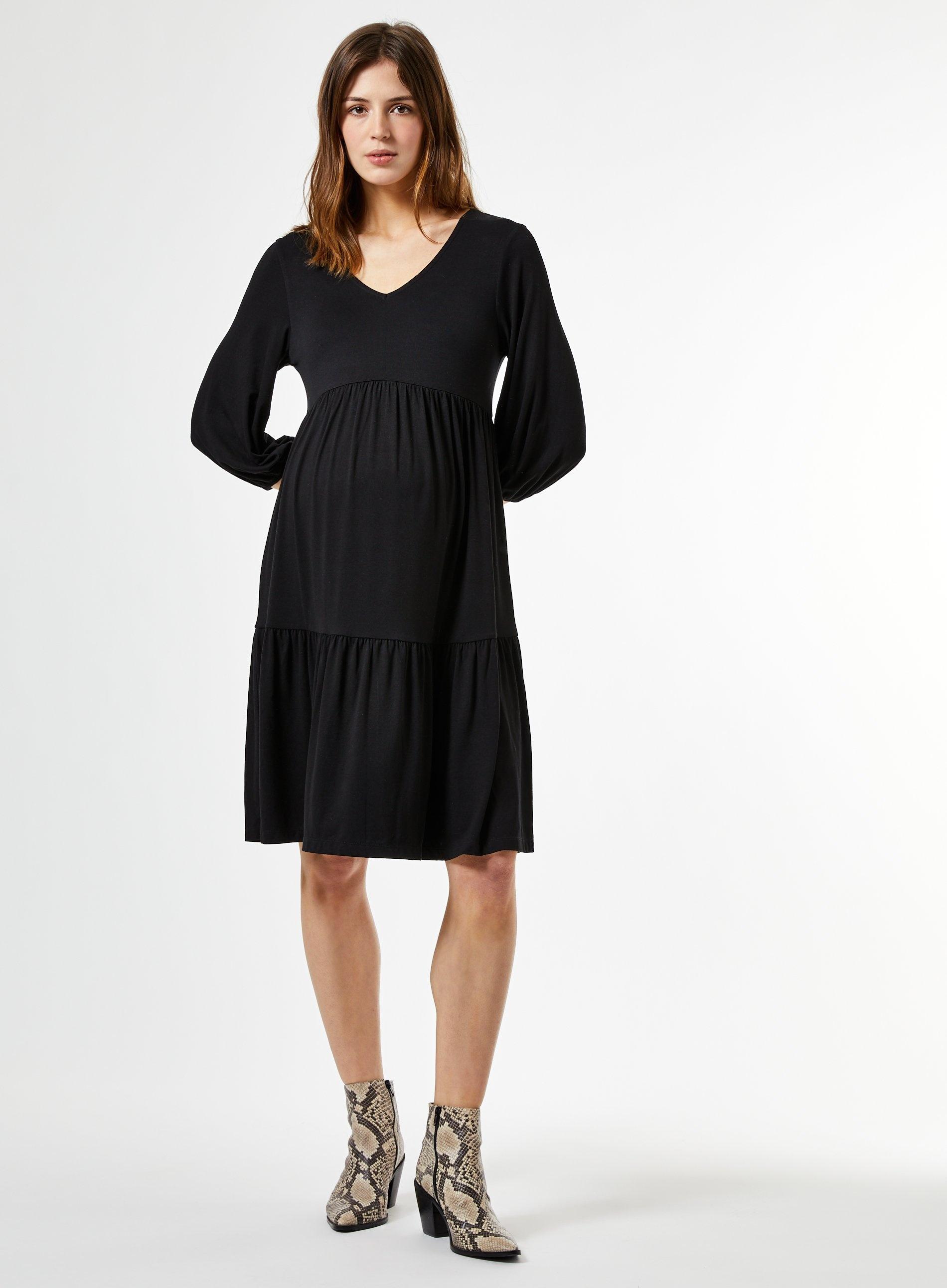 Maternity Lace 3/4 Sleeve Stretch Bodycon Pregnancy Midi