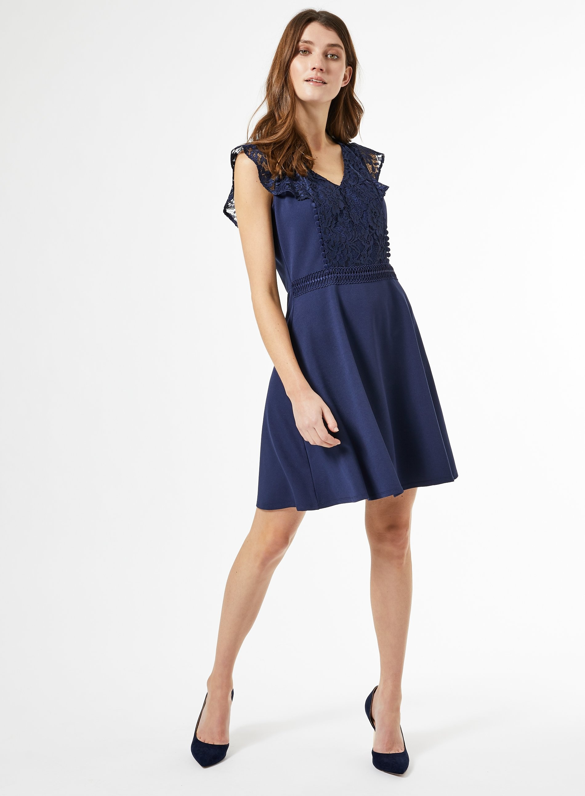 Dorothy Perkins Billie & Blossom Petite Cobalt Lace Dress